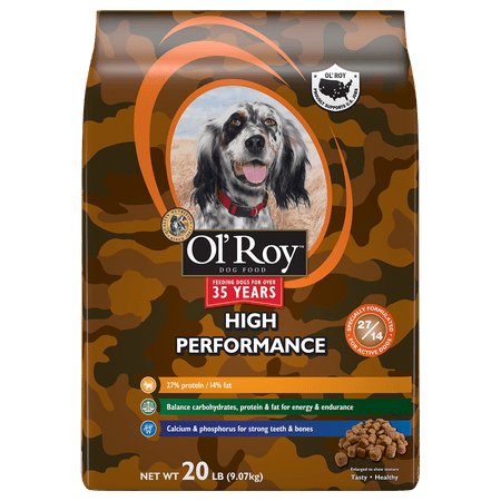 Ol Roy High Performance Dry Dog Food 20 Pound Bag