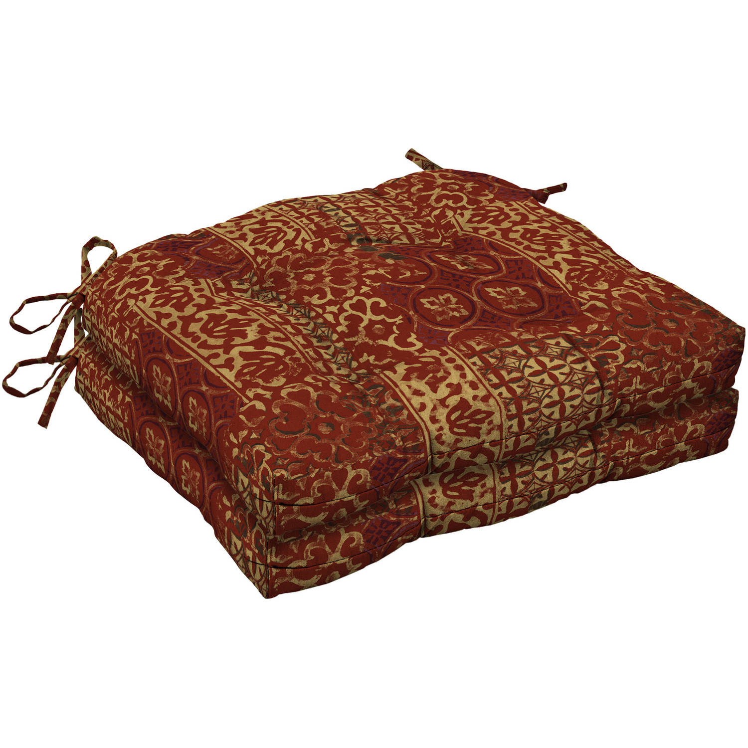 Mainstays Outdoor Patio Wicker Seat Cushion Set of 2