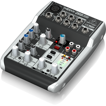 Q502USB 5-Input 2-Bus USB Audio Interface Mixer w/ XENYX Mic Preamps British EQ, Compressors &