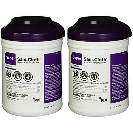 - Professional Disposables Surface GVvTm Disinfectant Super Sani-Cloth Wipes, 160 Count (2 Pack)