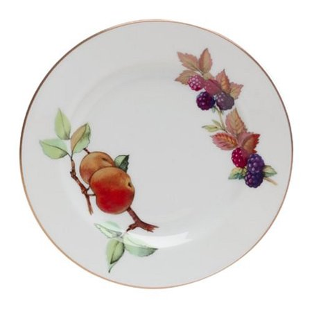 Evesham Gold Porcelain 6-1/4-Inch Bread and Butter Plate, The Evesham pattern is highly collectible in the U.S. market, introduced in the 1960