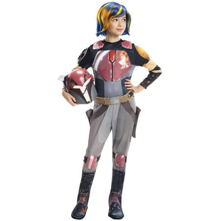 Rubie's Star Wars Rebels Sabine Deluxe Child Costume, Small](Kids Starwars Costumes)