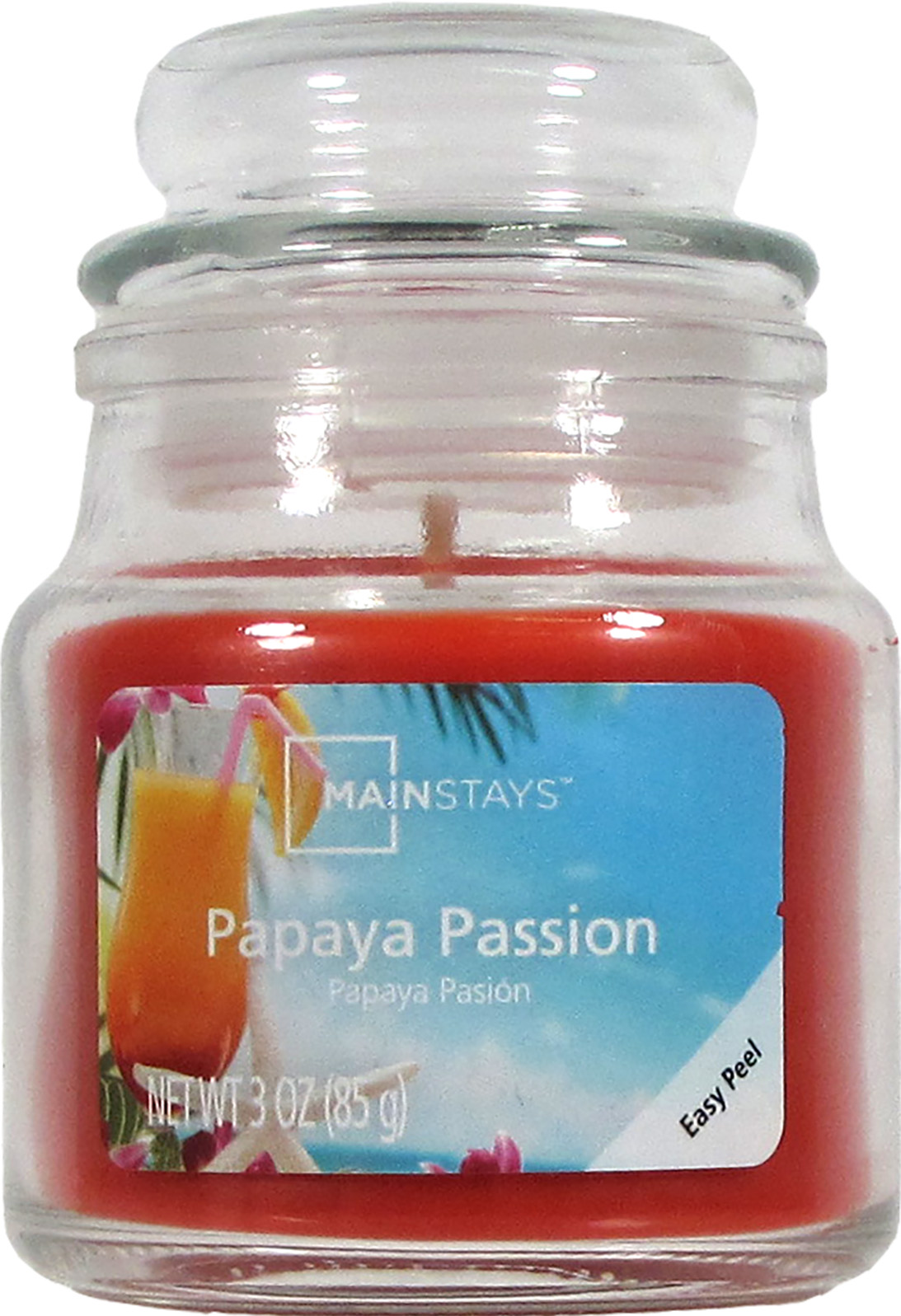 Mainstays 3 Ounce Papaya Passion Jar Candle