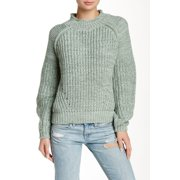 Valette NEW Green Women's Size Medium M Funnel Neck Mega Stitch Sweater $37