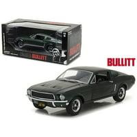 """1968 Ford Mustang GT Fastback Green Steve McQueen """"Bullitt"""" (1968) Movie 1/24 Diecast Model Car by Greenlight"""