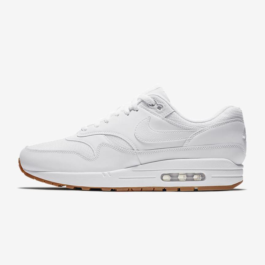 Mens Nike Air Max 1 White Gum Medium Brown AH8145-109 - Walmart ...