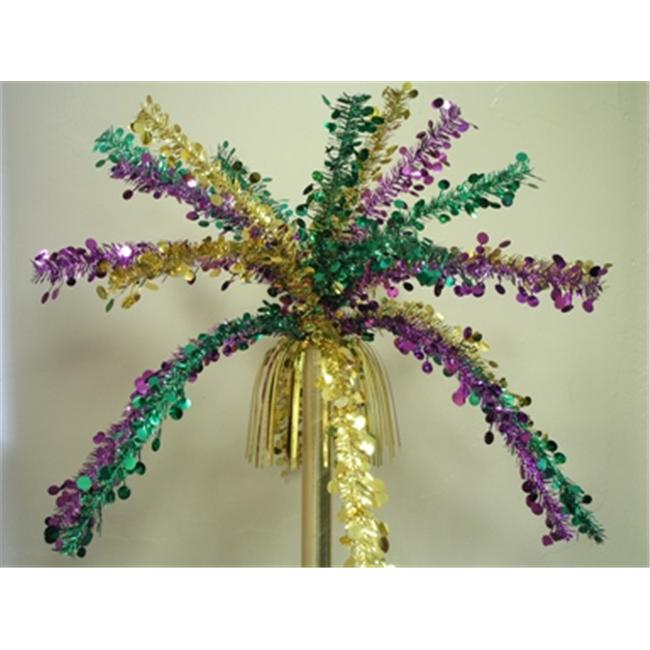 Party Deco 00132 36 inch Purple- Green and Gold Coin Fountains
