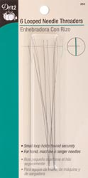 Dritz 252 Looped Needle Threaders 6-Count