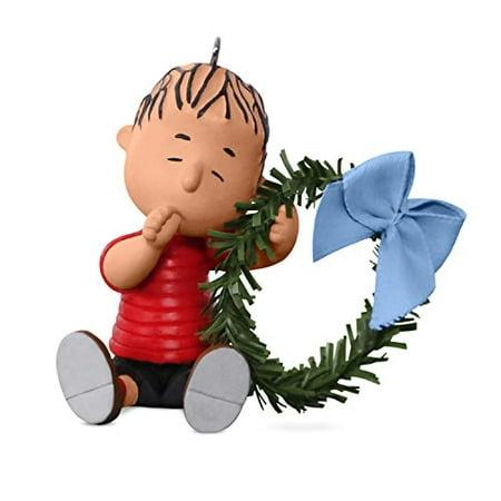 Hallmark Peanuts - Hallmark Peanuts Linus with Wreath Keepsake Christmas Ornament