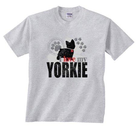 I Love My Yorkie Dog Paw Yorkshire Terrier - I Love My Mummy Halloween Dog Shirt