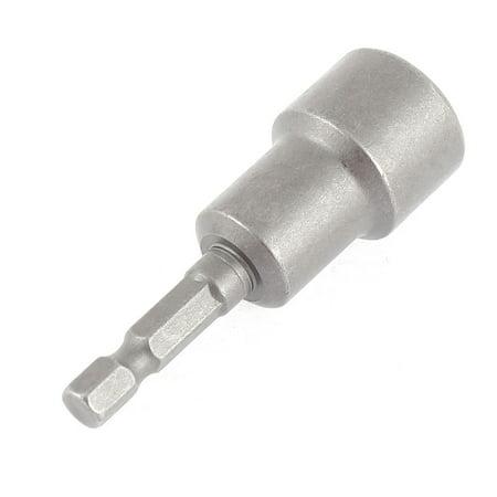 6.3mm Dia Shank 15mm Magnetic Hex Socket Spanner Nut Driver Bits - image 2 of 4