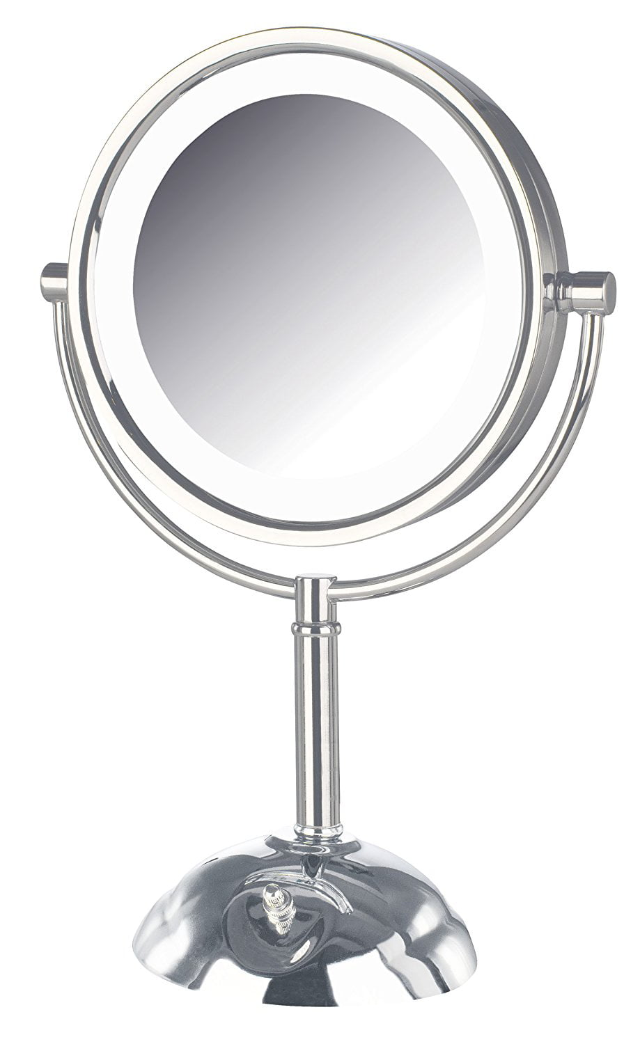 Click here to buy Jerdon HL8808CL 8.5-Inch Tabletop Two-Sided Swivel LED Lighted Vanity Mirror with 8x... by Jerdon Products Inc..