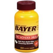 Bayer Aspirin 325mg Tablet, 500 Ct