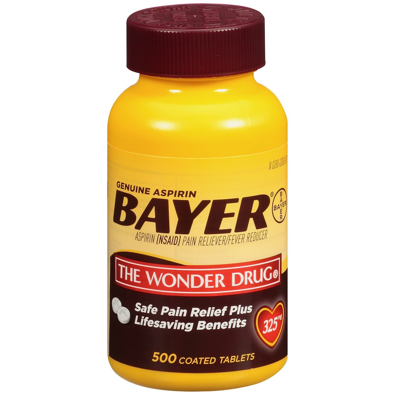 Genuine Bayer? Aspirin 325mg Tablet, 500 Ct