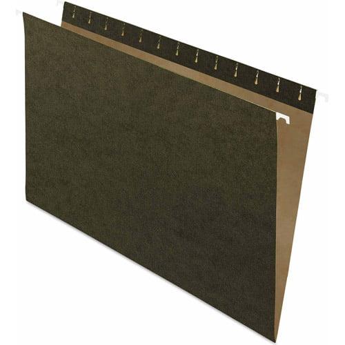 Pendaflex Essentials Hanging File Folders, Untabbed, Green, 25ct