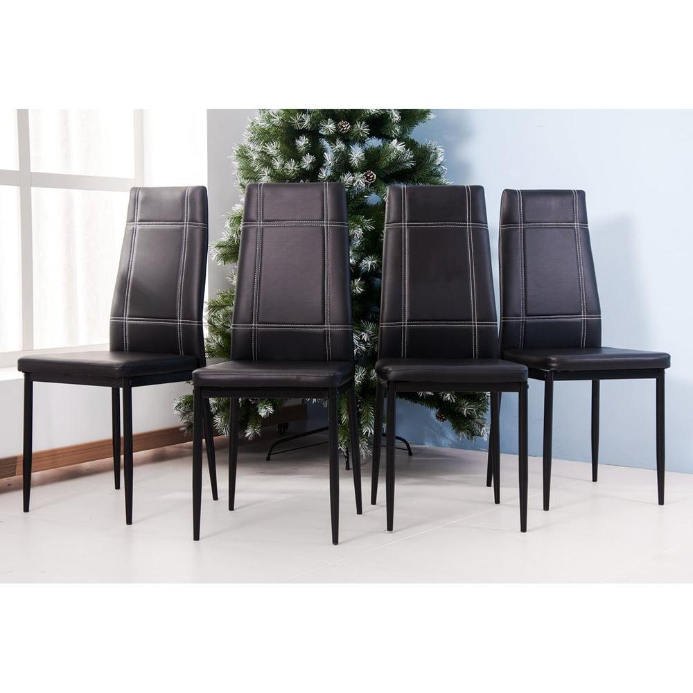 Merax 5-Piece Glass Top Rectangular Dining Set 4 Person ...