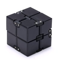 Infinity Cube, Magic Cube for Kids and Adults, Mini Gadget Spinner Fidget Toy Fidget Cube, Better for Stress and Anxiety Relief and Kill Time, Black