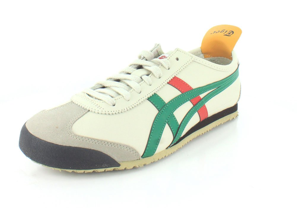 new concept 33451 70e40 Onitsuka Tiger DL408-1684 : Mexico 66 Fashion Sneaker Birch/Green (5.5 D(M)  US Men /7 B(M) US Women)