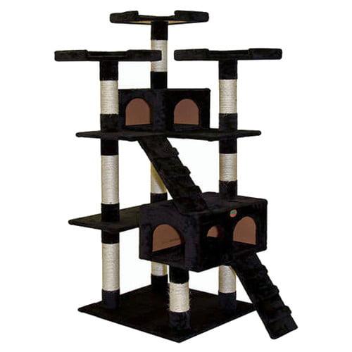 """GoPetClub 72"""" Black Cat Tree Condo Furniture"""