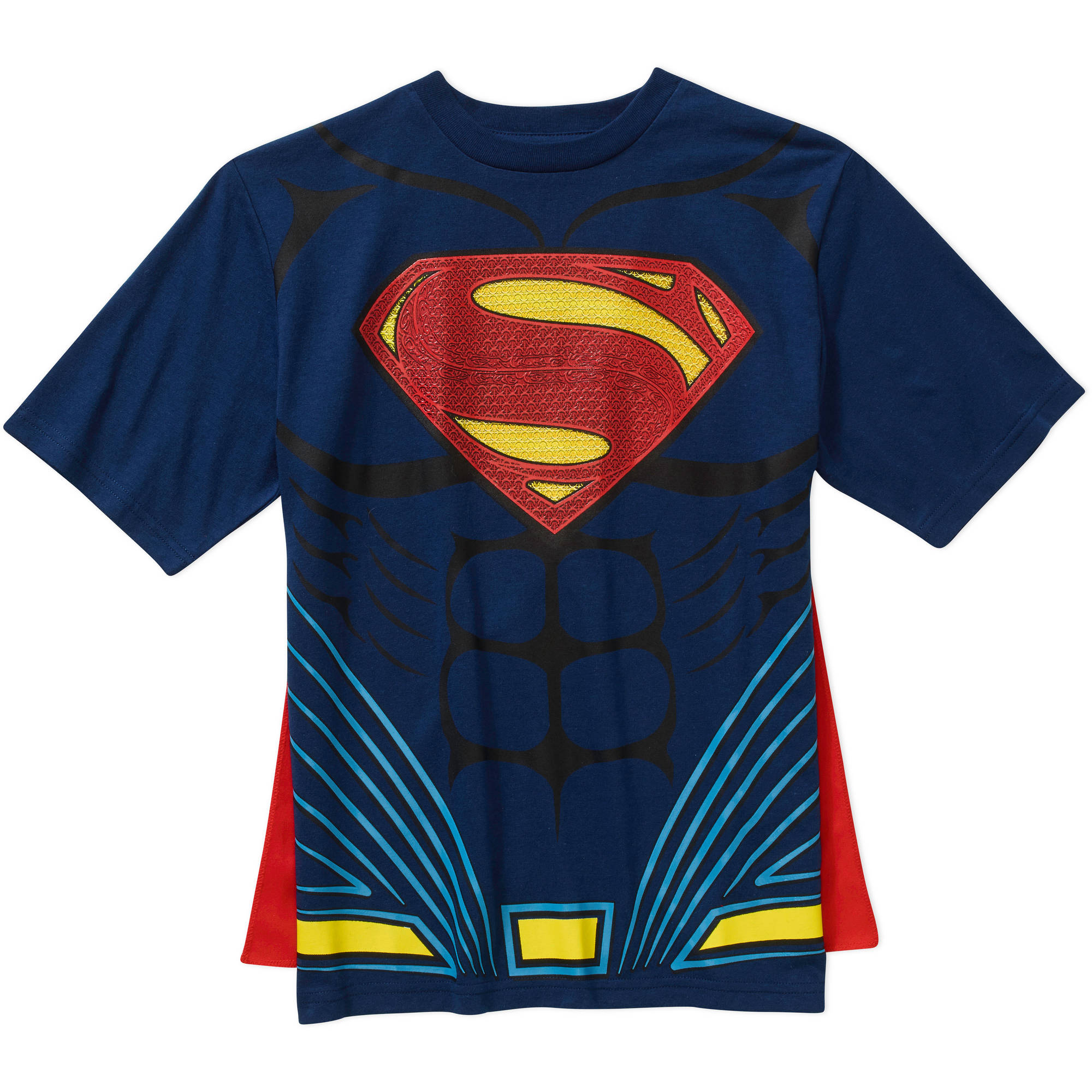 DC Comics Superman Boys Short Sleeve Cape Graphic Tee