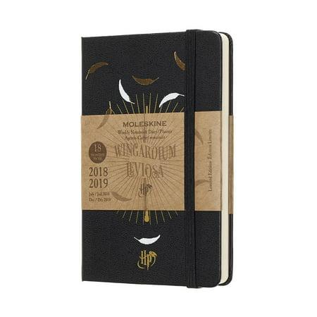 Moleskine 2018-2019 18m Limited Edition Harry Potter Weekly Notebook, Pocket, Weekly Notebook, Black, Hard Cover (3.5 X 5.5) (Other) - Moleskine Pocket Weekly Notebook