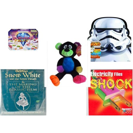 Children's Gift Bundle [5 Piece] -  Bejeweled Blitz  - Crayola Storm Trooper Art Case  - Sugarloaf s Rainbow Black Bear  16