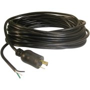 Prime 50-Feet 16/3 SJTW Twist-to-Lock Replacement Power Supply Cord, Black