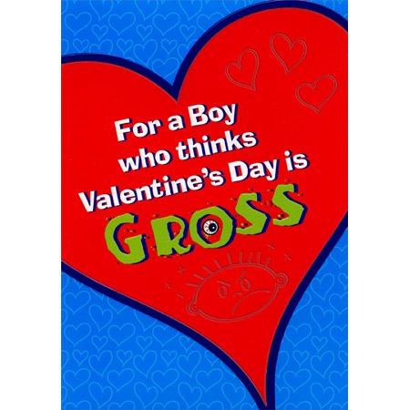 Designer Greetings Valentine's Day is Gross: Young Boy Juvenile Valentine's Day Card (Fall Out Boy Valentine Cards)