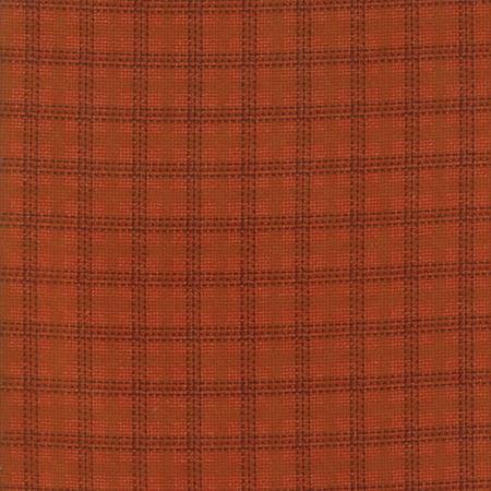 Moda Primitive Gatherings Wool and Needle Flannel VI Salmon Cross Plaid (Hot Pink Plaid Cross)