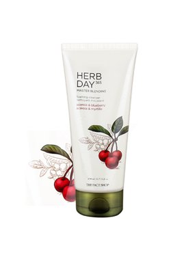 [ The Face Shop ] Herb Day 365 Master Blending Foaming Cleanser - Acerola & Blueberry 5.7 fl oz (170 ml)