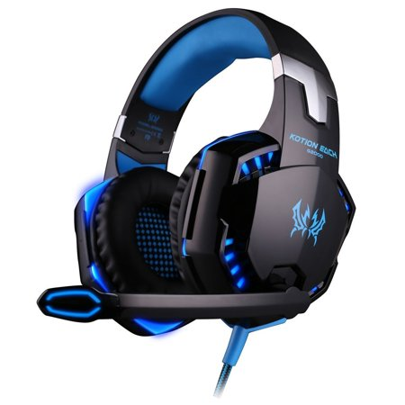 VersionTech G2000 Stereo Gaming Headset PC with Mic, Over-ear Headphones with Volume (Best Versiontech Pc Headphones)