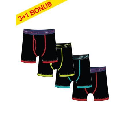 Hanes Mens X-Temp Regular Leg Boxer Brief, 3 + 1 Bonus Pack ...