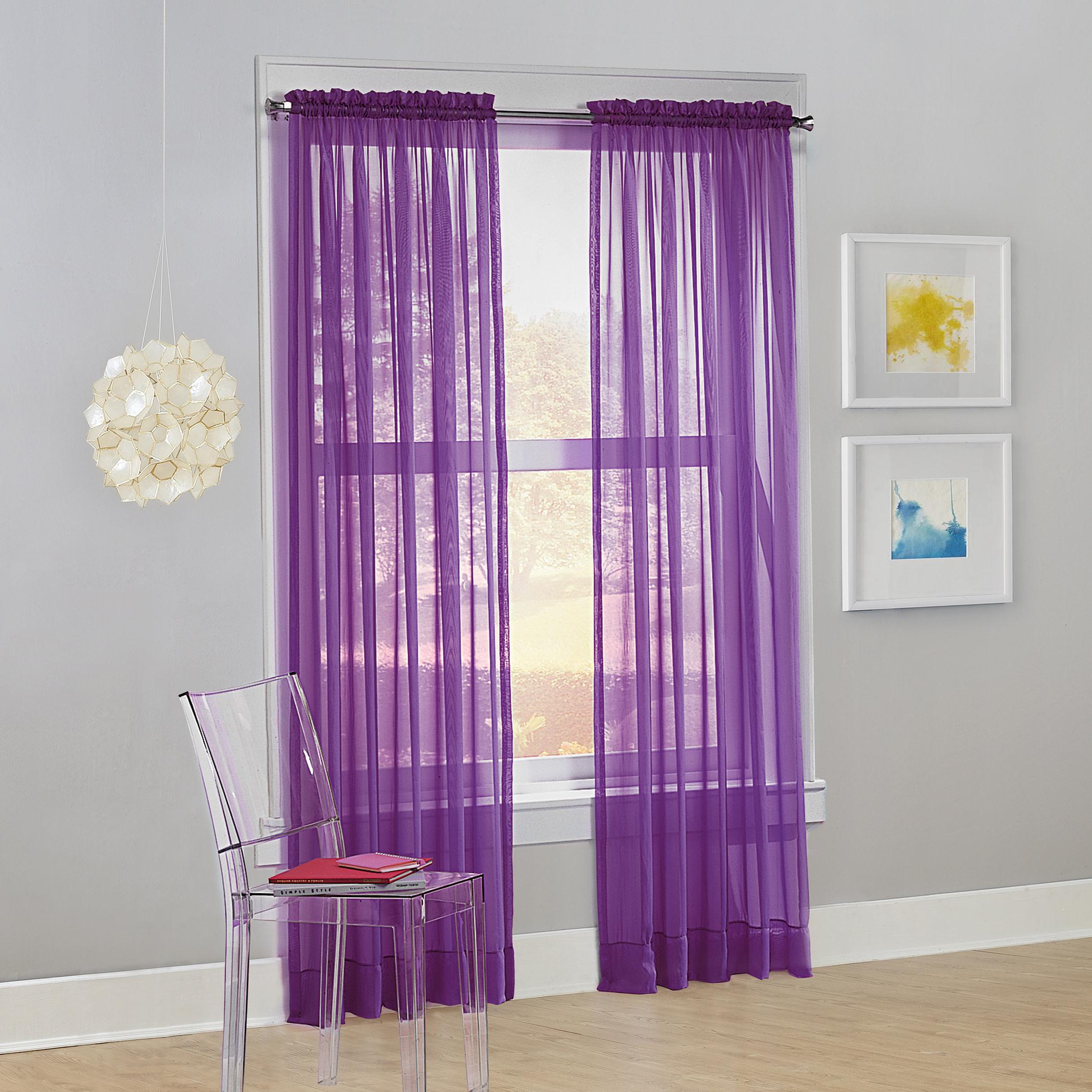 No. 918 Siren Voile Sheer Rod Pocket Curtain Panel