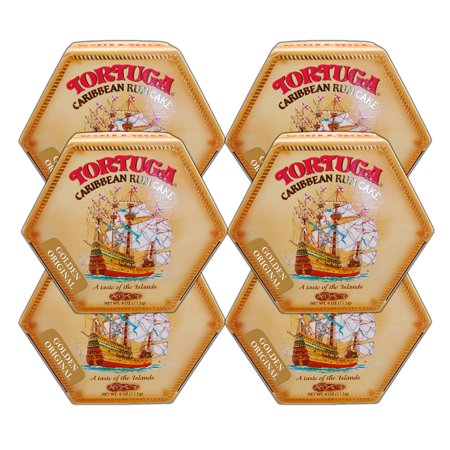 Tortuga Caribbean Golden  Rum Cake Original Flavor 4oz  6 PACKS FREE SHIPPING
