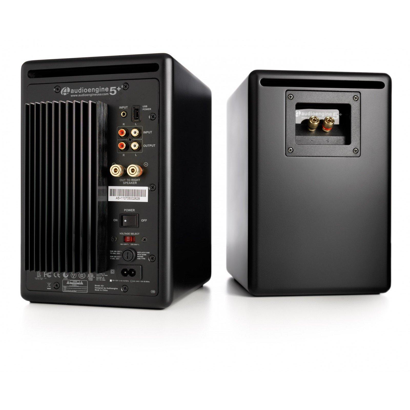 Audioengine A5+ Black (Pr.) Powered Bookshelf Speakers