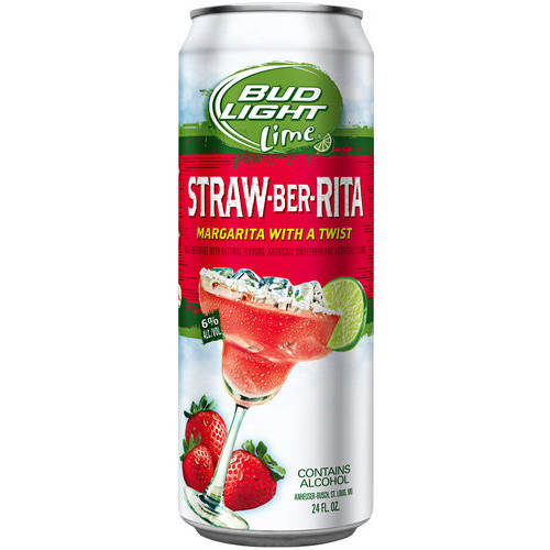 Bud Light Lime Straw-Ber-Rita Beer, 24 fl oz
