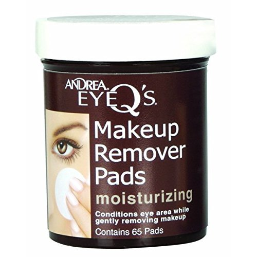 Andrea Eye Q's Moisturizing Makeup Remover, 65 Pads