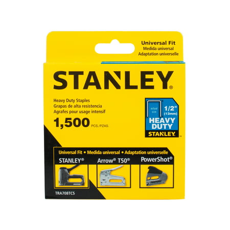 Heavy Duty Wide Crown Staples - STANLEY TRA708TCS 1/2