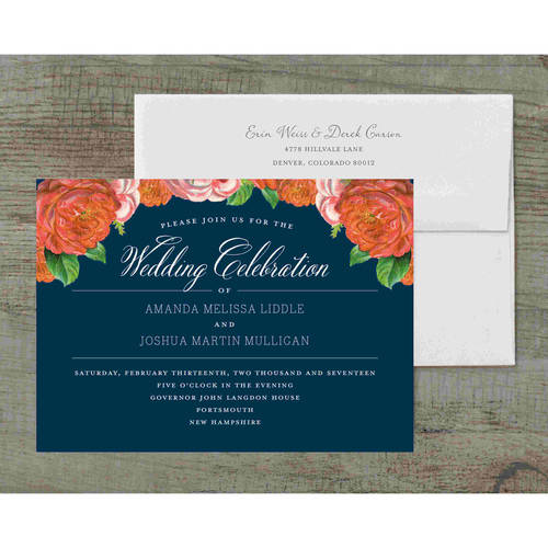 Vintage Blooms Deluxe Wedding Invitation