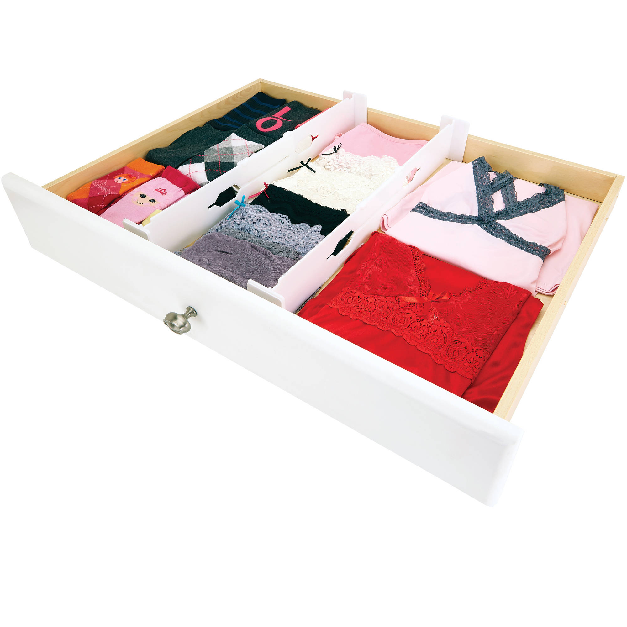 Simplify Adjustable Drawer Organizer, Set of 2