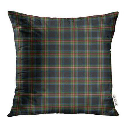 USART Blue Kilt Patterned of The Clan Stewart Black Tartan Green Ancient Celtic Pillow Case Pillow Cover 16x16 inch Throw Pillow (Stewart Clan Tartan)