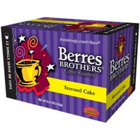 Berres Brothers Coffee Roasters Streusel Cake Coffee Single Serve Cups, 12 cups, 4.23 oz