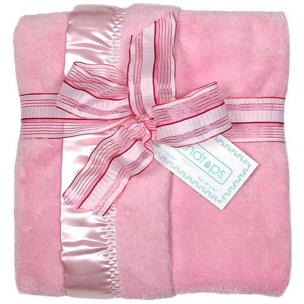 Dee Givens and CoRaindrops 1160 Raindrops 1160 Unisex Pink Flurr Receiving Blanket by Raindrops