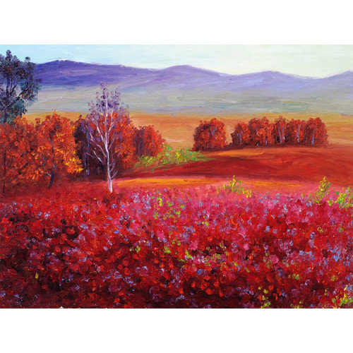 West of the Wind Red Meadow Outdoor Canvas Wall Art