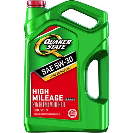 Quaker state high mileage 5w 30 motor oil 5 qt for What motor oil to use for high mileage engine