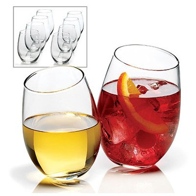 Anchor Hocking 8-piece Stemless Wine Glass Set by Anchor Hocking