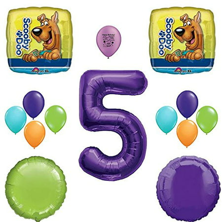 Scooby Doo Party Supplies 5th Birthday Party Balloon Decoration - Scooby Doo Birthday Supplies