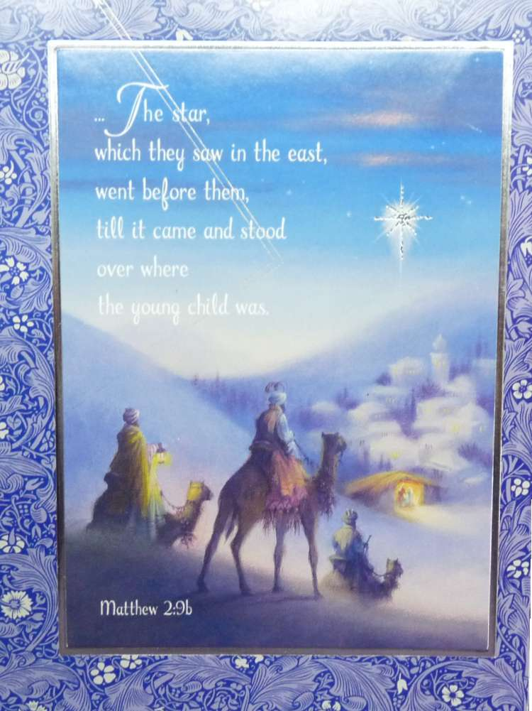 Christian Christmas Cards.Trimmerry Bible Verse Matthew 2 9 Christian Christmas Cards The Star
