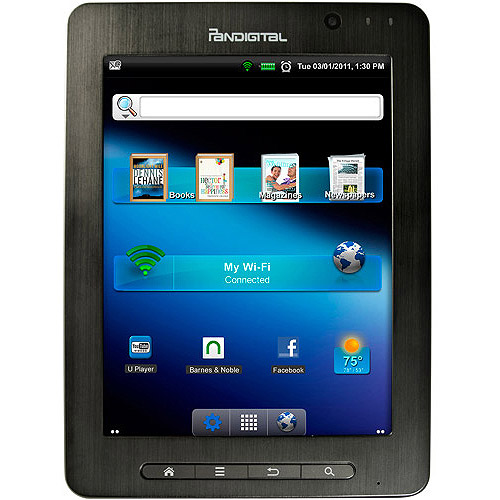 "Pandigital SuperNova with Wi-Fi 8"" Touchscreen Tablet PC Featuring Android 2.3 Operating System"