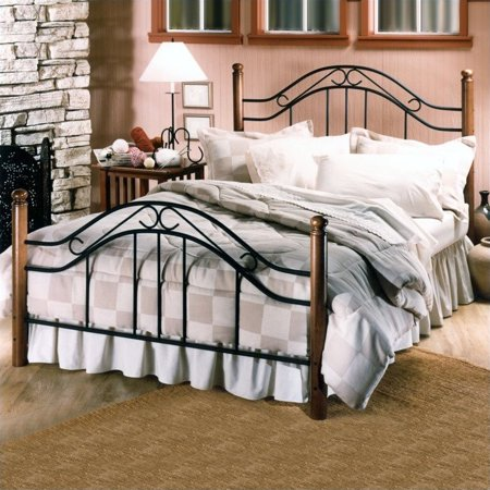 3d6e0c819994 Hillsdale Furniture Winsloh Metal Poster Bed in Black Finish-Full - image 2  of 2 ...